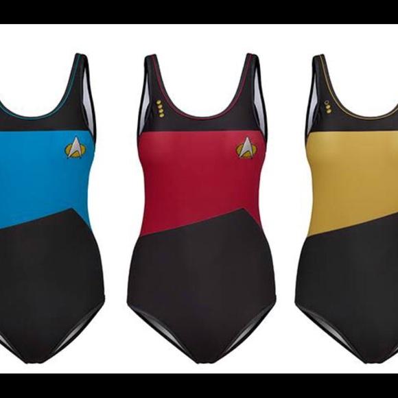 bd4450743b3 ThinkGeek Swim | Star Trek One Piece Suitlt Commander Gold | Poshmark